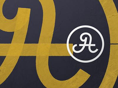 A, J or t ??? road sign minimal illustration design texture badge typography monogram affinity designer logo