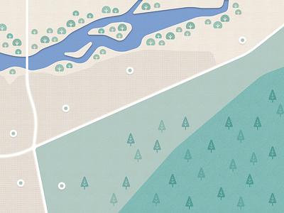 Map 2d weekly warm-up bridge bush mongolia river landscape tree mapping maps map