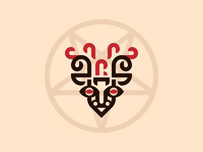 Cursed Brewery packagedesign label branding satanic satan hell goat evil 666 devil logo beer