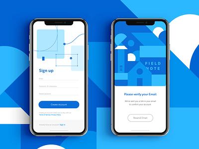 Sign Up Form apple app vector illustration app design ios flat design ux ui ux design ui design sign up