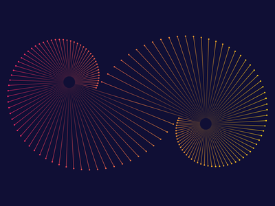 Lines and Dots futuristic exploration illustration adobe illustrator spiral infographic dots lines line