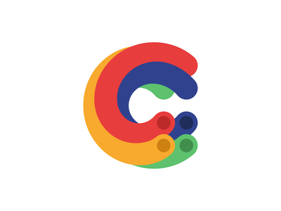 C for Cable animation vector typography branding icon identity logo effect blend google colorful cable c