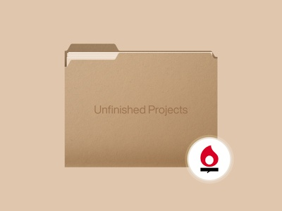Unfinished Projects realistic files file design vector illustration texture interface ux ui icon folder