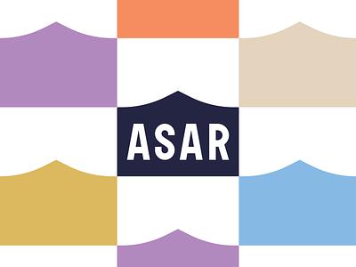 ASAR Shop icon vector typography design 2d branding online shopping shopping identity logo