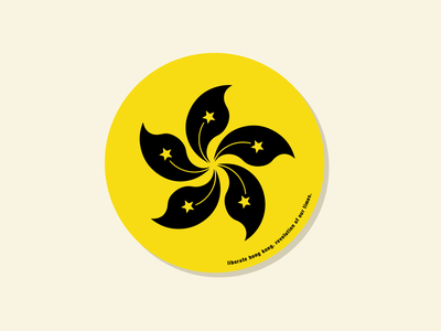 Liberate Hong Kong illustration coaster vector logo black yellow 2020 revolution hong kong