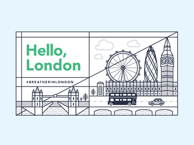 London Skyline breather cityscape city skyline graphic design illustration london
