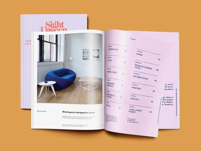 Magazine Ad—Sight Unseen magazine ad layout ad graphic design magazine