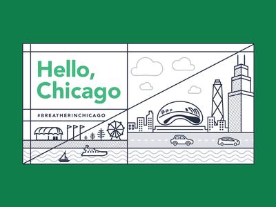 Chicago Skyline breather graphic design illustration chicago