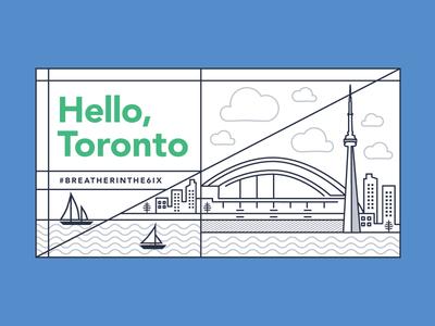 Toronto Skyline breather graphic design illustration toronto