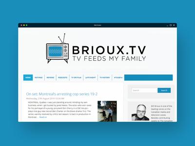 Brioux.tv Site Design website ui branding web design