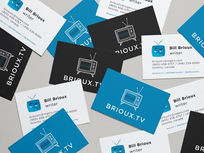 Brioux.tv Business Cards graphic design business cards