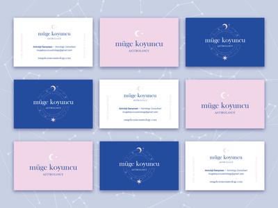 Müge Koyuncu Astrology — Business Cards moon stars astrology graphic design business cards