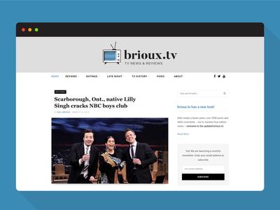 Update to brioux.tv 404 404 page wordpress website design web design web briouxtv