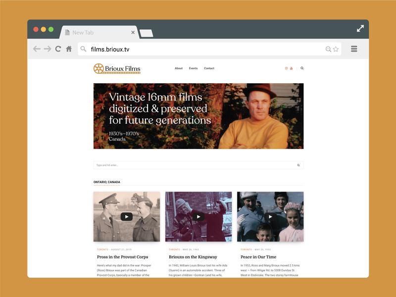 Brioux Films website design briouxfilms brioux brand wordpress website