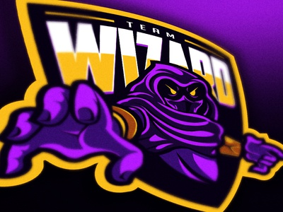 (FOR SALE) Wizard Team mascot logo