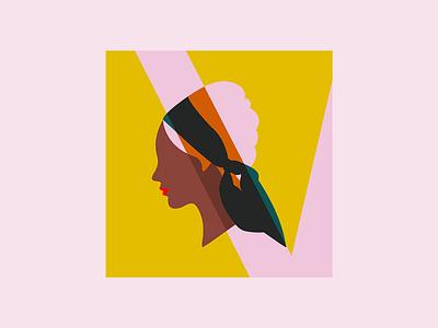 Hair illustration agency procreate illustration drawing emilysearle pink profile women scarf beehive hair