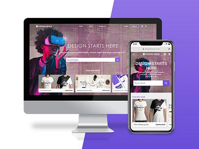 Design Deals App + Web website web app ux ui design branding