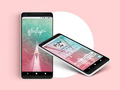 Nextrip Calendar App ux ui design app branding