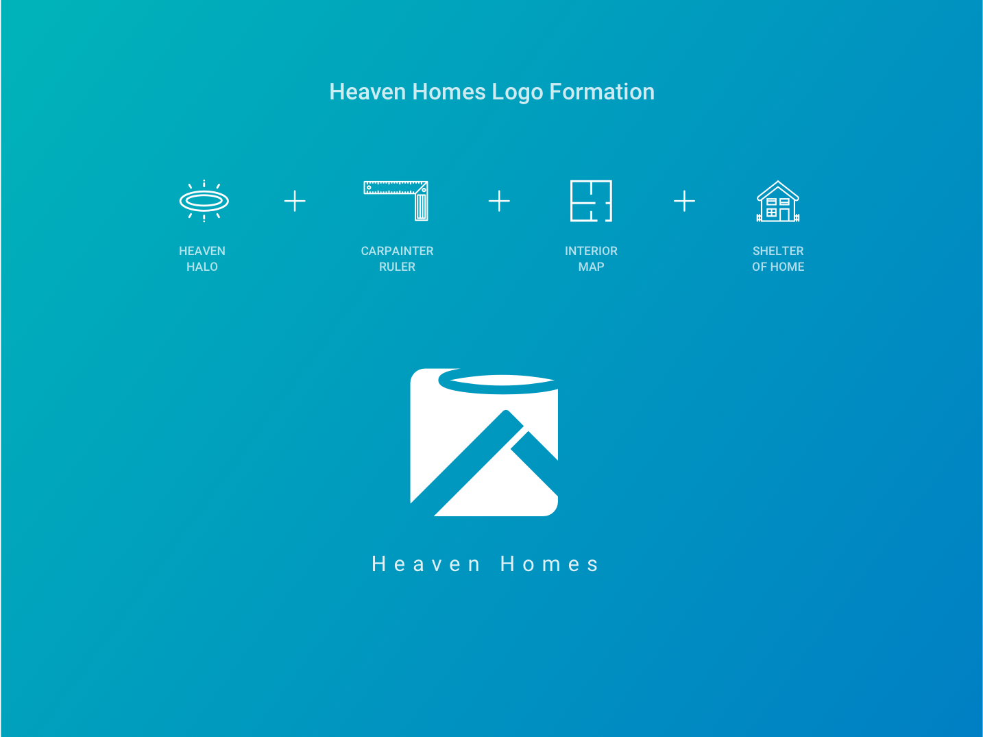 Logo Design : Heaven Homes branding design symbol finder visual design architecture interior design heaven home minimal illustration typography vector logo icon flat design clean branding art