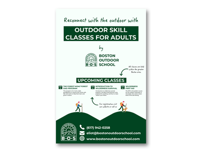 Poster Design for a Outdoor School poster design poster flyer design flyer branding design