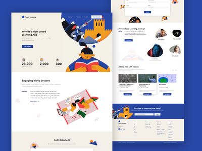 Puzzle Academy - Lending Page webdesign adobe xd student project teacher online study figma lending page branding typography logo design app illustration clean sketch ux ui