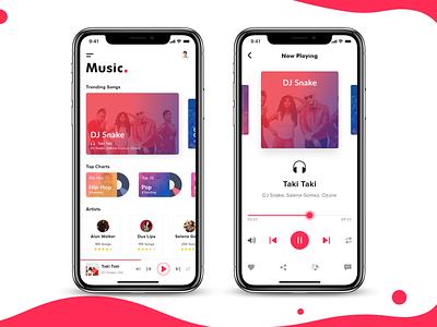 Music App disc speaker dashboard landing page website adobe sketch vector icon ux ui app music clean debut logo illustration typography branding music app