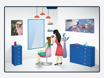 Salon branding animation dashboard landing page web style style guide beauty care hair care barber shop salon vector design ux ui sketch illustration clean app adobe