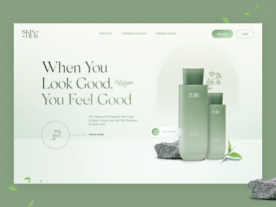 Skincare Website Header Concept ui visual design design user experience ui design 17seven