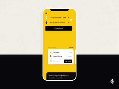 Bus Booking App - Menu Interaction