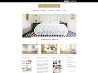 White + Gold Site Design