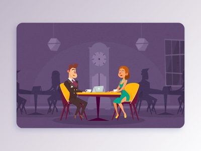 #i17 cafe vector graphics design art graphics flat illustration design digital
