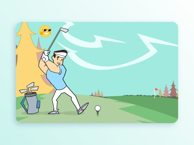 #i19 golf graphic vector graphics design graphics flat art illustration design digital