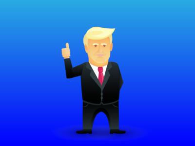 Just a vector graphic of Trump election america usa president politics donald trump donaldtrump trump branding photoshop illustrator adobe ux web modern gradient vector ui illustration design