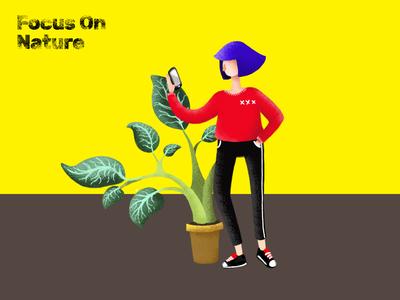 Focus on Nature Illustration