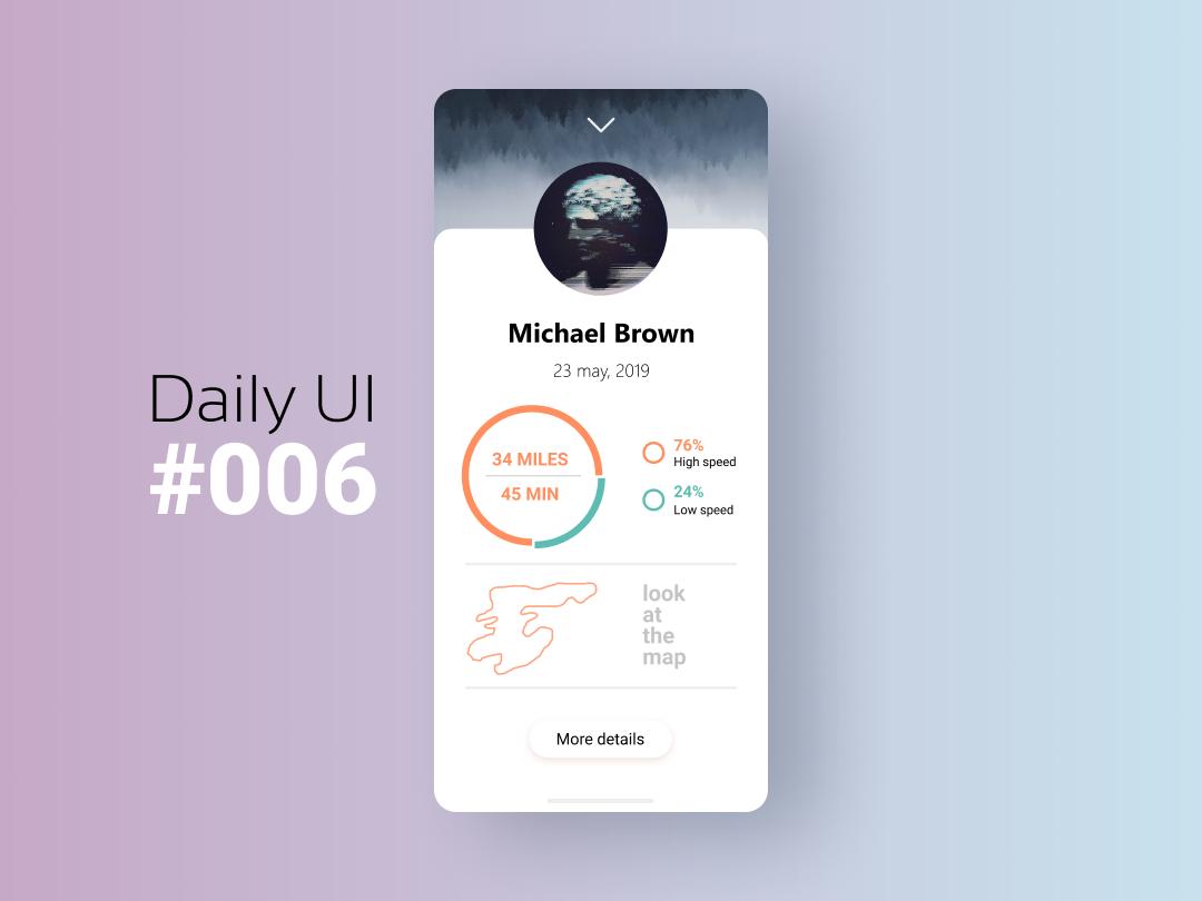 Daily Ui #006 User Profile figmadesign ui daily ui dailyui