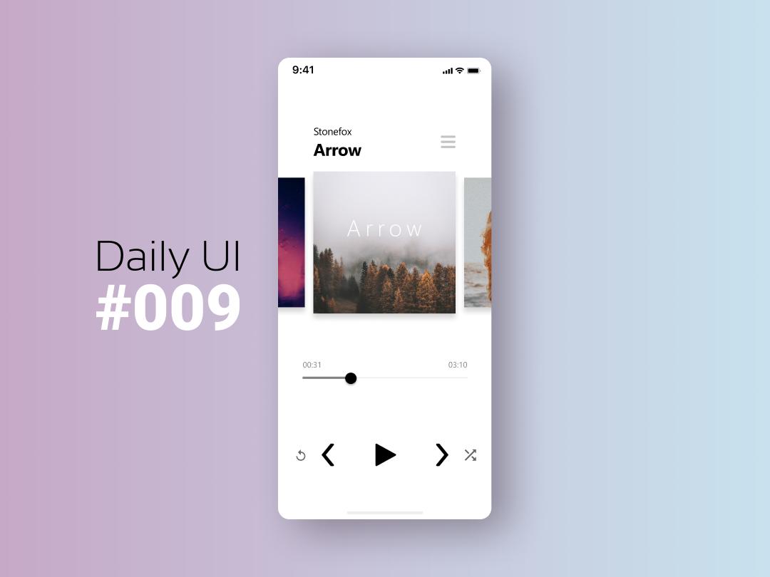 Daily Ui #009 Music Player app music player figma 009 ui daily ui dailyui