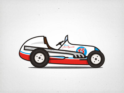 Midget Racer #2 illustration race car car