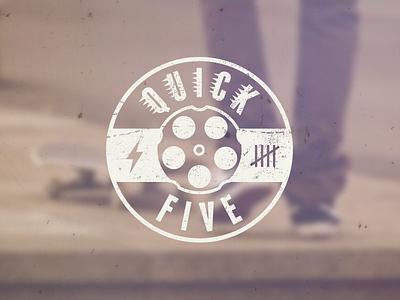 Quick Five logo logotype distressed grunge skate skateboard