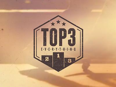 Top 3 logo logotype distressed grunge skate skateboard