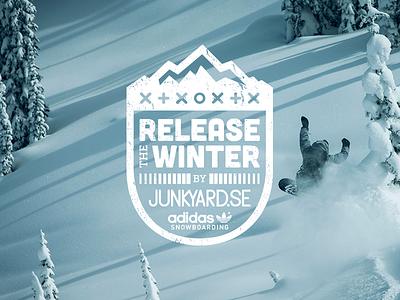 Release the winter logo logotype party adidas junkyard.com snow snowboard winter