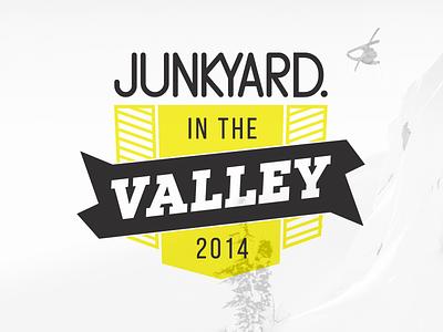 JITV2014 Logo junkyard junkyard in the valley logo shield badge snow ski event oslo