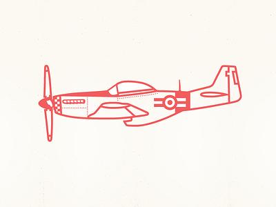 Mustang P-51D airplane plane mustang illustration sketch