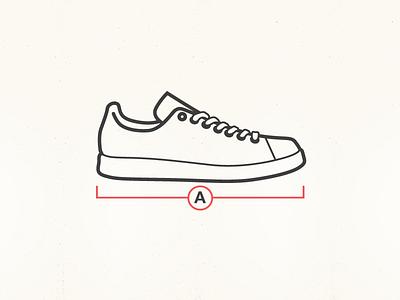Shoe shoe foot wear sneaker junkyard.com size guide illustration