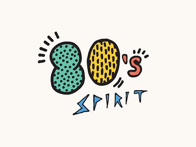 80's Spirit logo logotype 80s 1980s keith haring