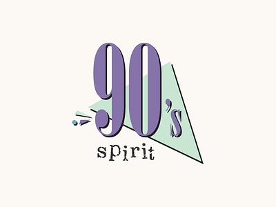 90's Spirit logo logotype 90s 1990s