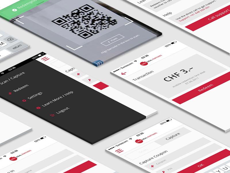 DeinDeal Partner App – Draft deindeal screendesign mobile app
