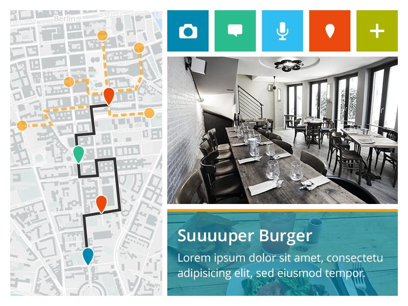 Cityguide Moodboard  moodboard screendesign school app cityguide