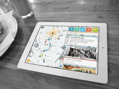 WIP – Cityguide (schoolproject)  screendesign school app cityguide wip