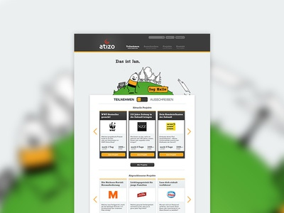 Atizo Screendesign – Draft