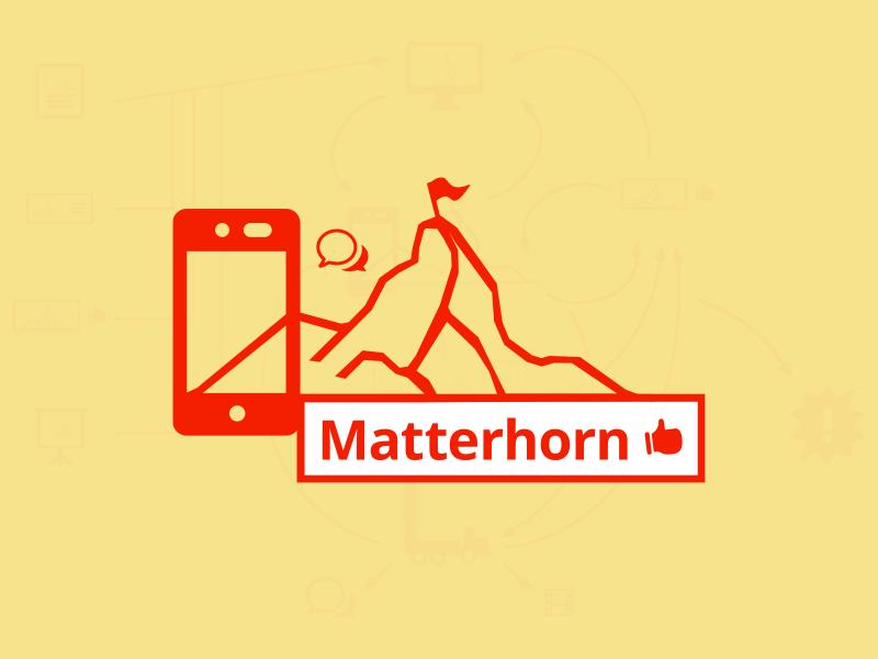 «Matterhorn» school project school concept vector matterhorn swiss mountain